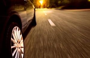 Reifen auf der Strasse
