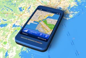 Smartphone mit Routenplaner