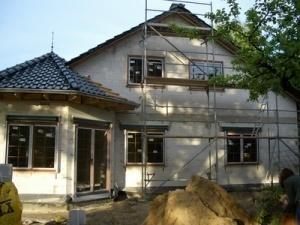 Haus im Rohbau