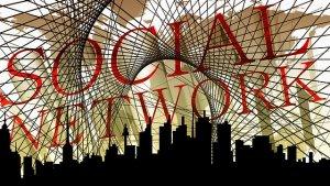 Wort: social Network mit Skyline