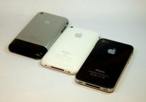 3 iPhones nebeneinander