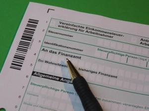 Formular für die Eimkommensteuererklärung