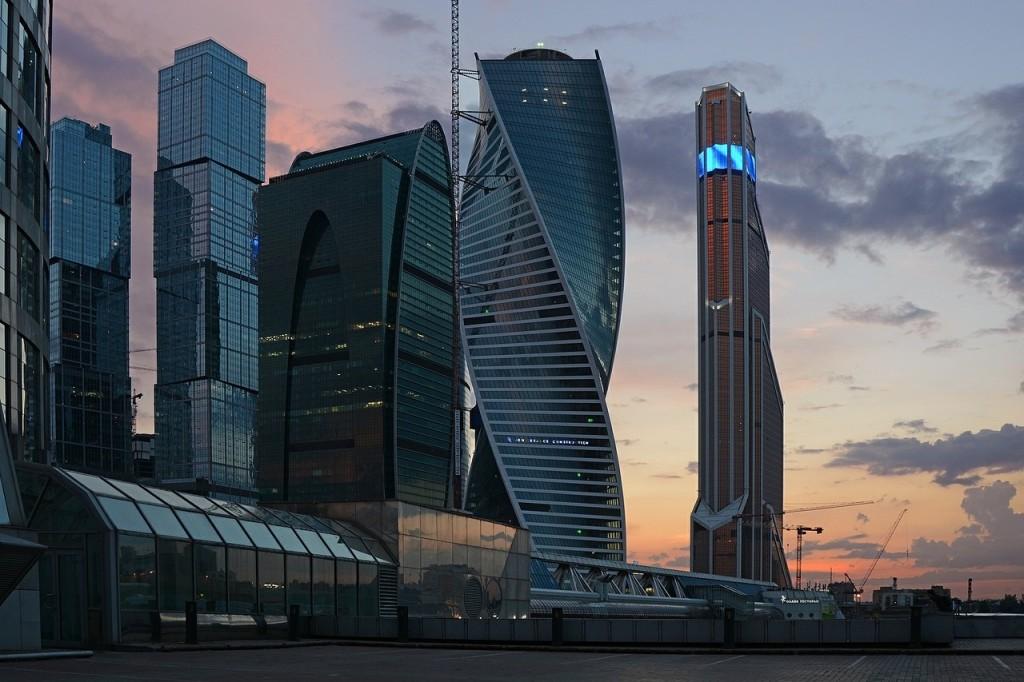 Skyline mit modernen Hochhäusern