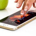Bedienung eines iPhones
