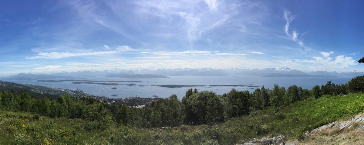 Blick auf Molde in Norwegen