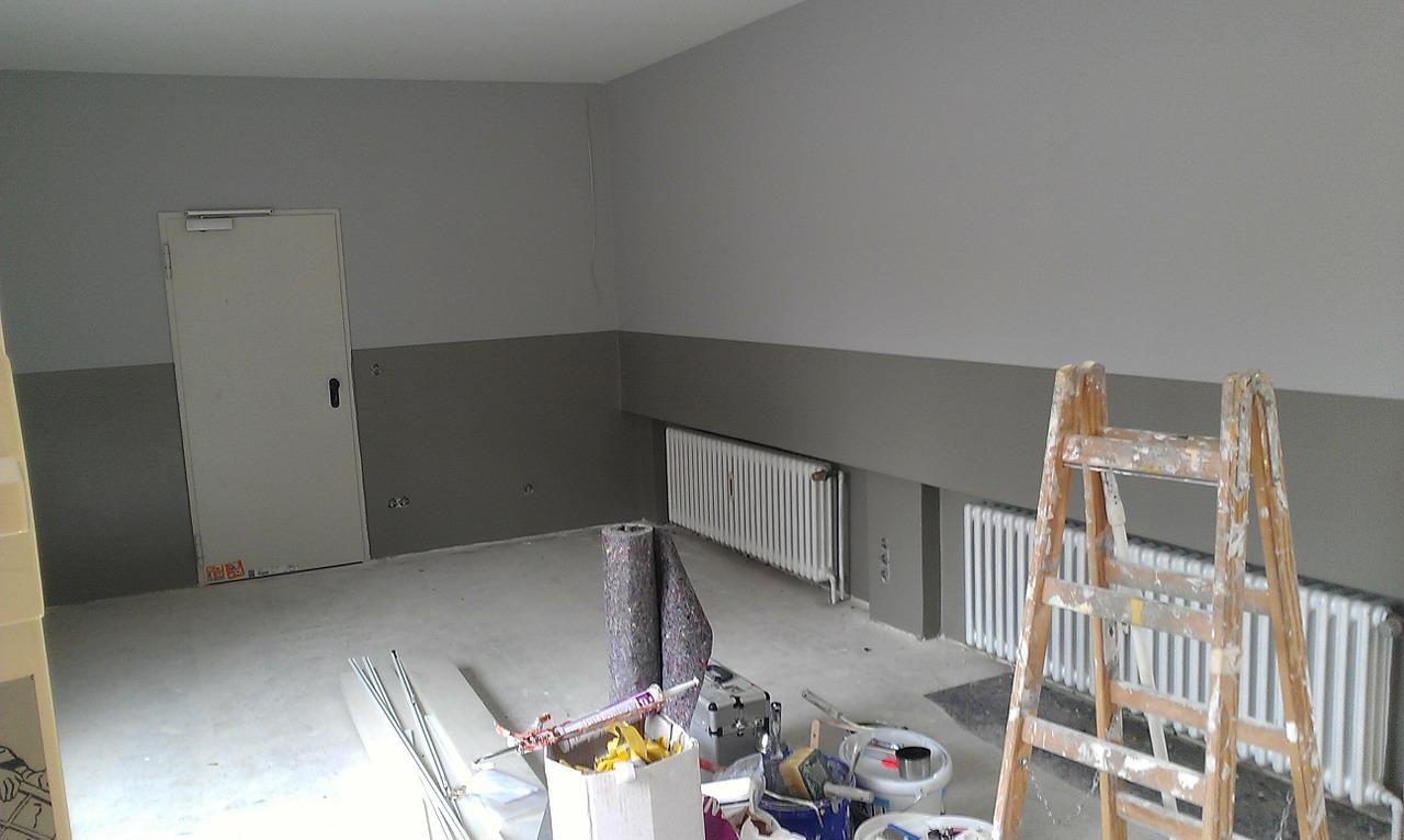 Renovierung eines Zimmers