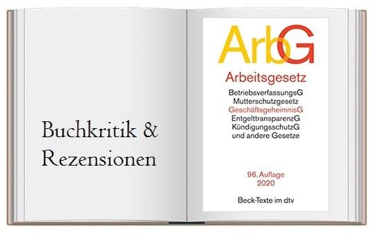 Cover zur Buchempfehlung: Arbeitsgesetze ArbG