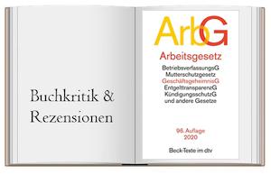 Buchcover zur Empfehlung von: Arbeitsgesetze ArbG